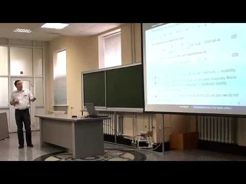 IUTAM 2012. 07. Transcendental Cases of The Stability Problem in Mechanics (Boris Bardin)