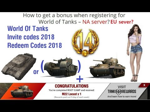 WOT INVITE CODE NA, EU / World of tanks invite codes (2019 05 27 UPDATE  VIEW TEXT)