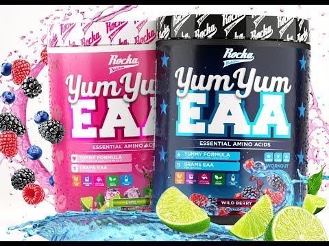 YUM YUM EAA | Rocka bringt die ersten MEGA schmeckenden EAA's auf den Markt! #1LEVELWEITER