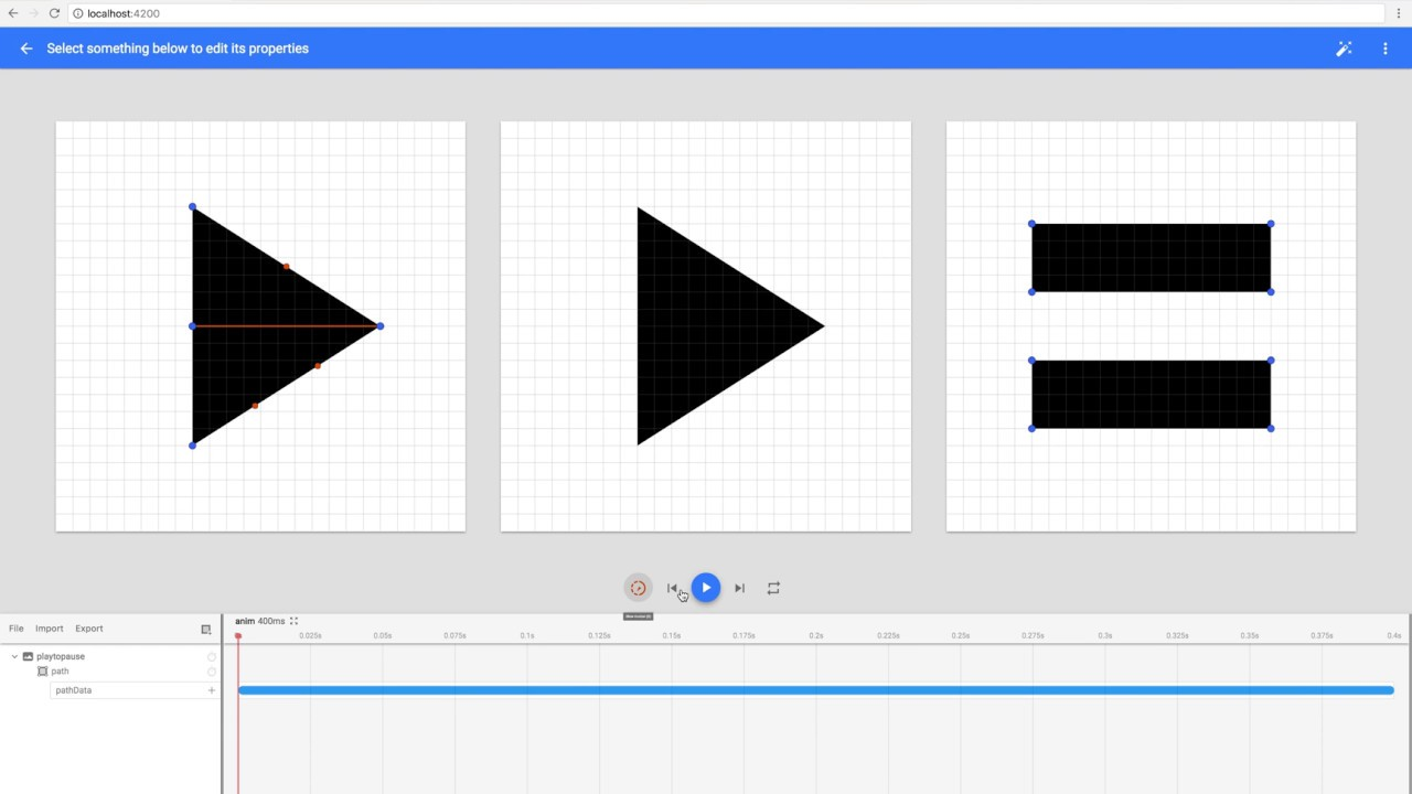 Creating a play-to-pause icon animation w/ Shape Shifter