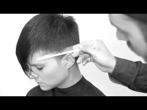 Short Rounded Undercut & Scissor over comb Pixie Haircut