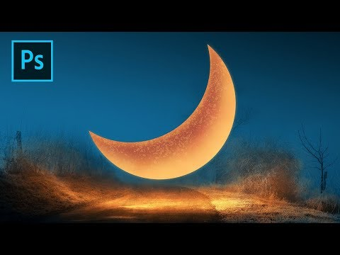Photoshop Tutorial Photo Manipulation - Surreal Moon Falls thumbnail