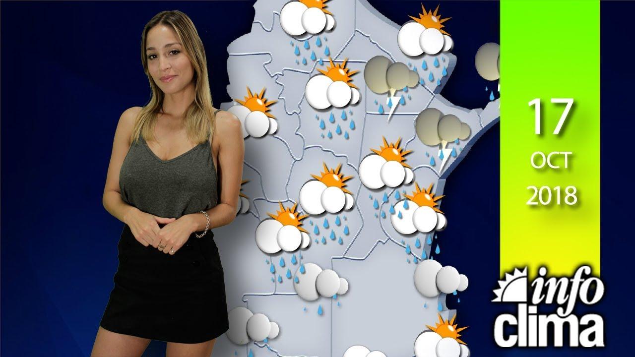 Pronóstico para el 18 de octubre de 2018. Argentina - Infoclima TV