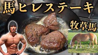 【ヒレステーキ】グラスフェッド馬ステーキ!【牧草馬】