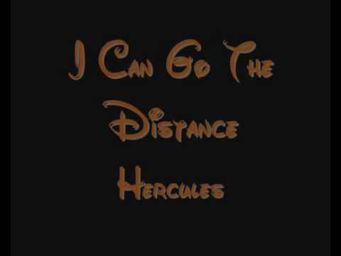 I Can Go The Distance - Hercules Lyrics