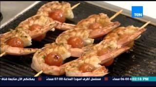مطبخ 10/10 - الشيف أيمن عفيفي - الشيف منال هاني - طريقة عمل الجمبري بصوص المانجو
