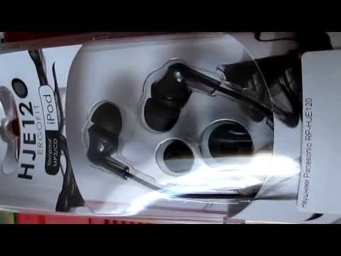 unbox наушников panasonic RP-HJE120