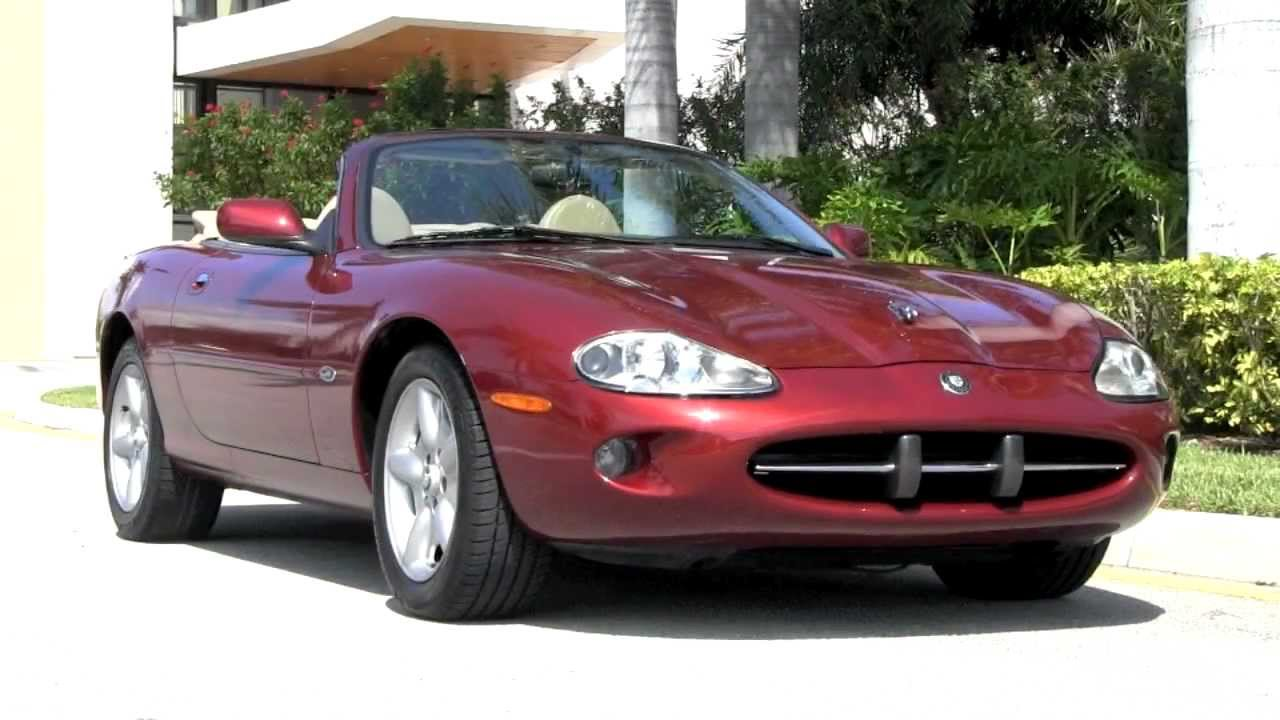 1999 jaguar xk8 convertible carnival red autos of palm beach a2861 youtube