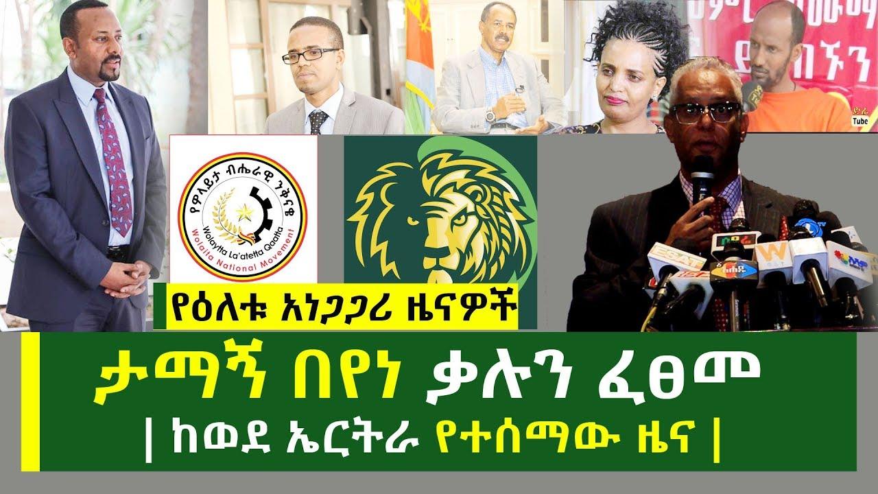 ታማኝ በየነ ቃሉን ፈፀመ | ከወደ ኤርትራ የተሰማው ዜና | እና የዕለቱ ዜናዎች | Ethiopian Daily News