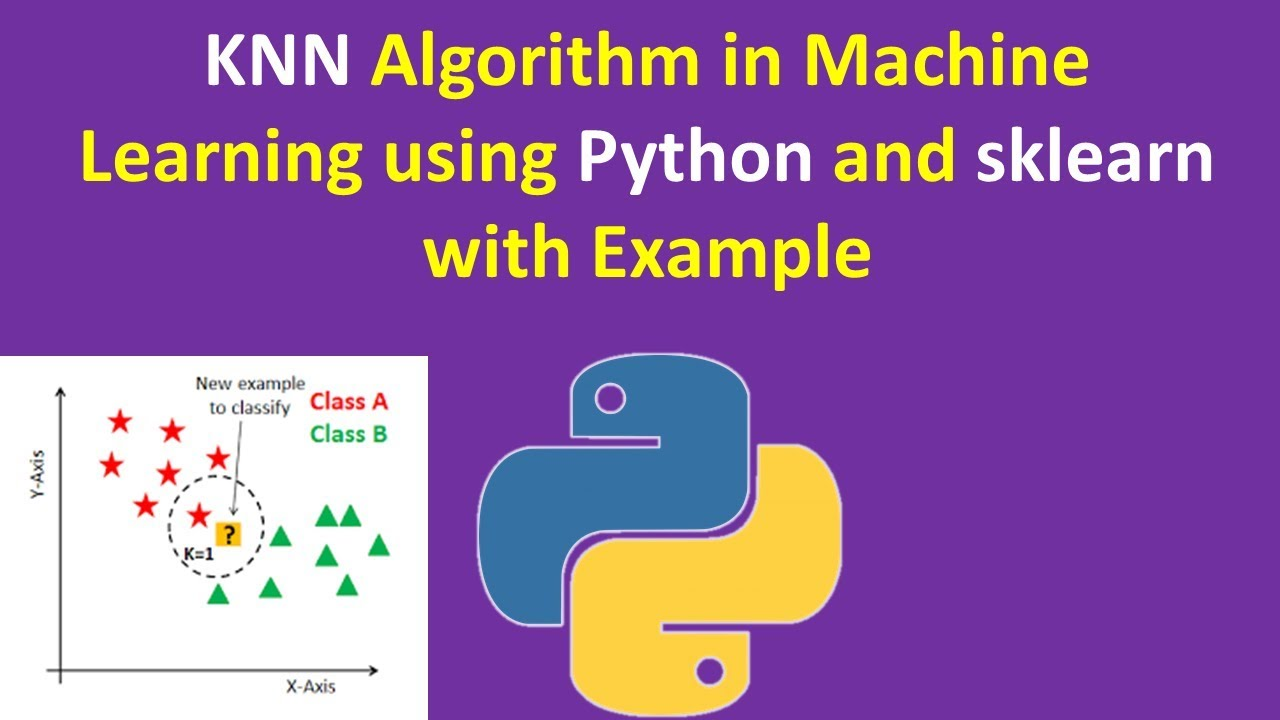 KNN Algorithm in Machine Learning using Python and sklearn with Example KGP  Talk