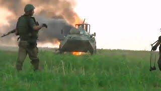 Война в Украине - подрыв БТР - зона #АТО #ООС #ВСУ - війна в Україні - бойові дії Горловка