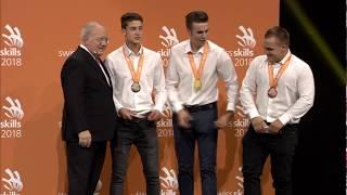 Bronze für Maurer Lukas Arnold bei den Swissskills 2018