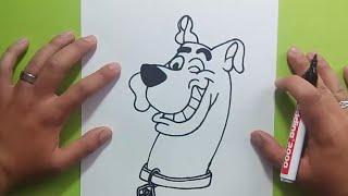 Como dibujar a Scooby Doo paso a paso - Scooby Doo | How to draw Scooby Doo - Scooby Doo