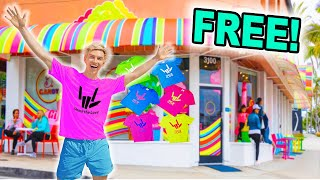 I Opened World's First FREE Merch Store!! *Police Shut It Down*