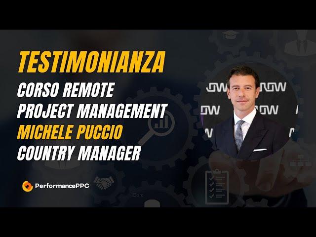 Testimonial Michele Puccio video corso Remote Project Management