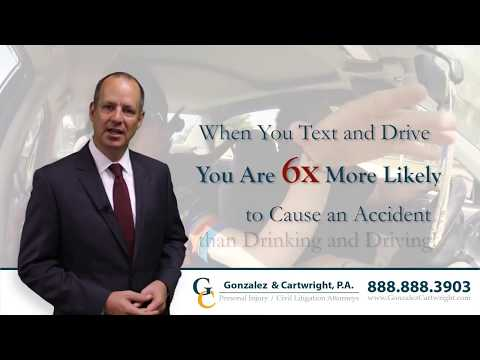 Cell Phone and Texting Accident Lawyer Serving West Palm Beach Florida