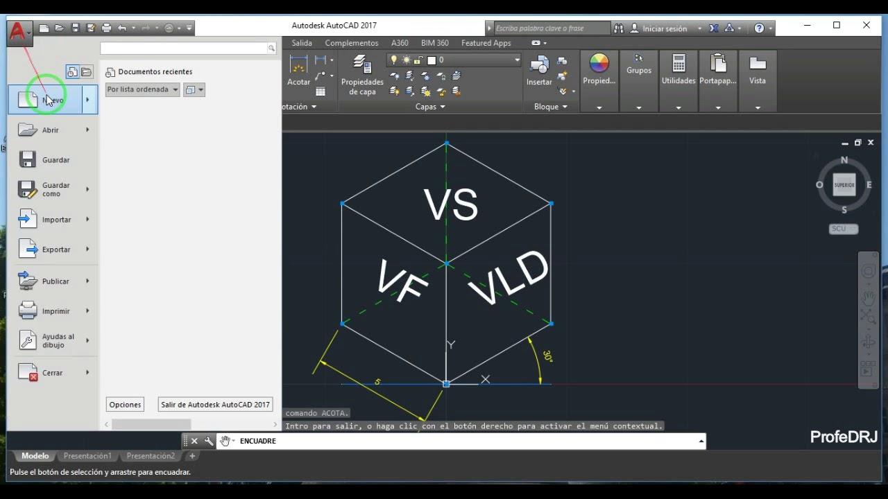 AutoCAD Lección 3 (Introducción a Isometría) - YouTube