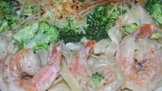 Shrimp, Broccoli, Garlic, Alfredo Fettuccini  2/6 Chef John The Ghetto Gourmet Show