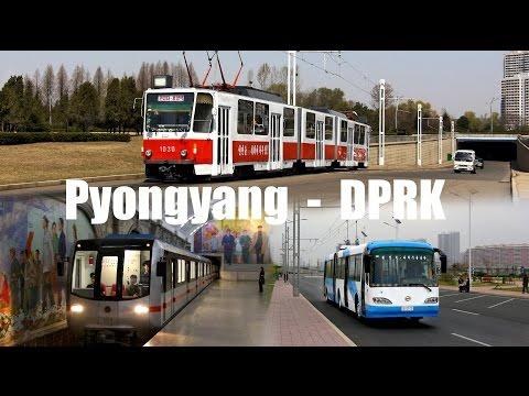 PYONGYANG - TRAM, TROLLEYBUS & METRO (2016)