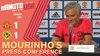 Alexis Sanchez to Join Tour Squad This Week | Mourinho\'s Press Conference | Man Utd 1-1 Club America