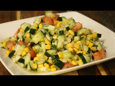 Cucumber Salad - Side Dish - Easy Recipe