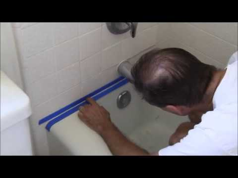 How To Replace Moldy Caulk In A Bathtub Or Shower - Youtube