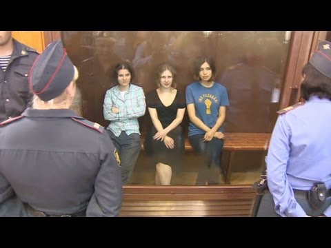 Pussy Riot sentenced for Putin protest