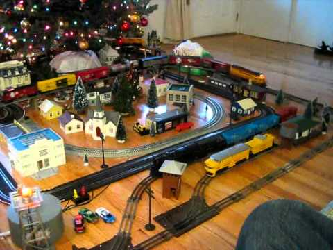 Christmas Lionel train layout 2010 YouTube