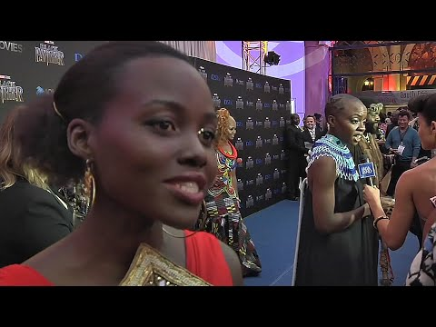 Lupita Nyong'o brings 'Black Panther' home to South Africa