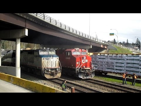CP, CN, and BNSF freight trains at Braid Junction - March 25th, 2016