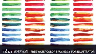 Free watercolor brushes for illustrator part 2