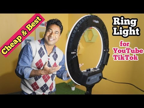 Cheap & Best Quality 18 inch Ring Light for Youtube & Tiktok Video Creators | Digitek