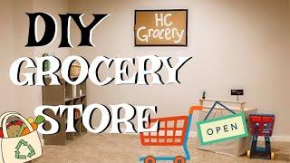 DIY GROCERY STORE & LOTS OF PLAYTIME // SAHM of 3 Vlog