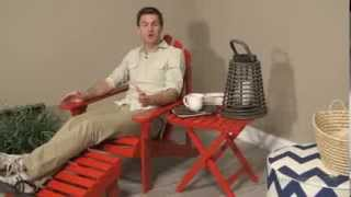 Coral Coast Red Painted Acacia Adirondack Chair - Product Review Video