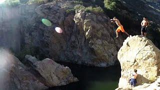 Crazy Cliff Diving!!