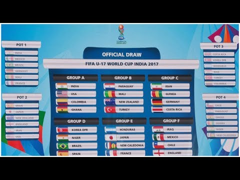 FIFA Under 17 World Cup 2017 India, Draw Details.