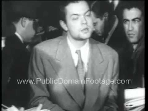 Orson Welles Apology for War of the Worlds Broadcast PublicDomainFootage.com