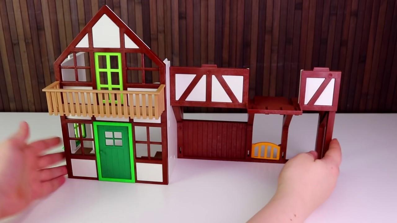 playmobil bauernhof - großer bauernhof - spielzeug auspacken&spielen