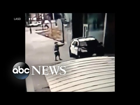 new-security-footage-shows-moments-after-la-police-officers-shot-in-their-cruiser-|-wnt