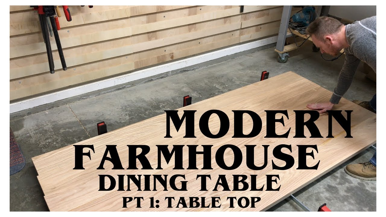 Farmhouse Table Part 1 Table Top How To Woodworking Youtube