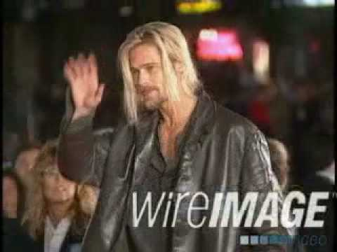 Brad Pitt Long Blonde Hair On The Premier Of Interview With The Vampire Looking Very Very Sexy.