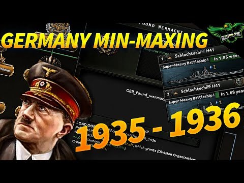 HOI4 Min-Maxing Germany 1935 - 1936 Germany Rearms and Takes Sarland