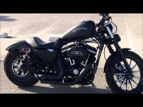 2013 Iron 883 with New Pipes - YouTube