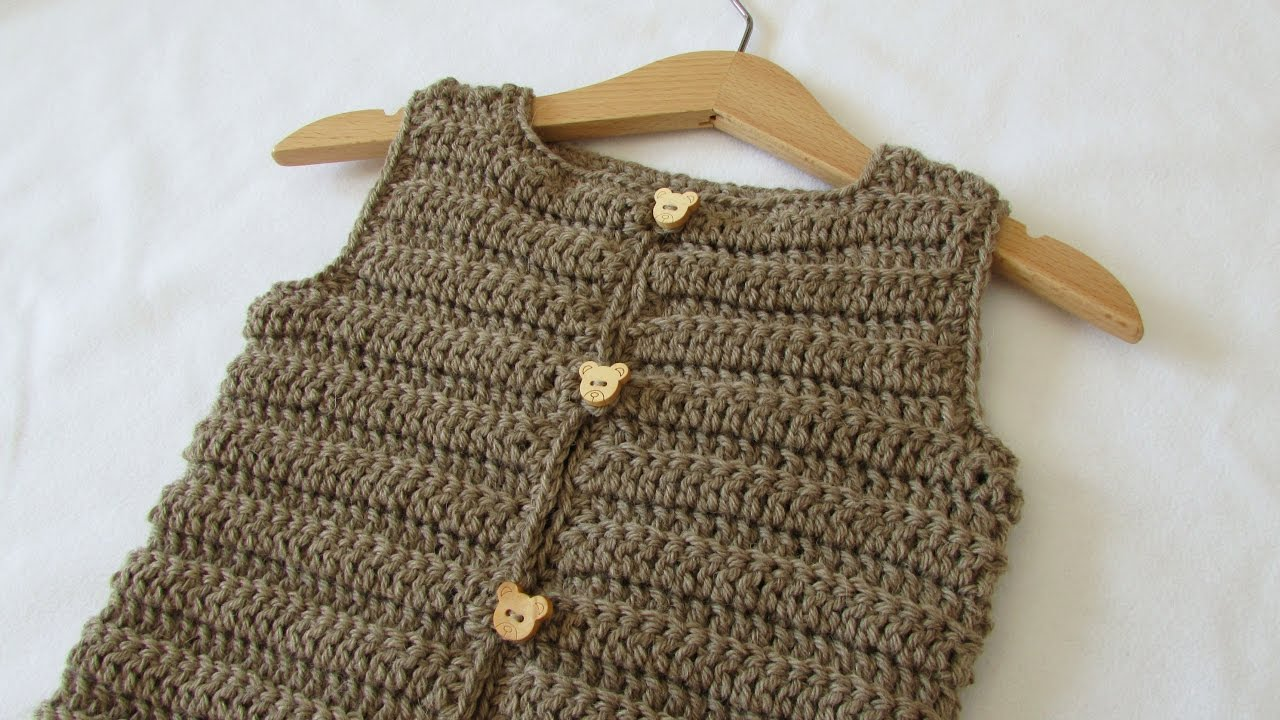 How To Crochet An Easy Ribbed Vest Sweater Any Size Youtube