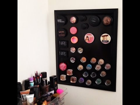 DIY Magnetic Makeup Board Mar 2014  YouTube