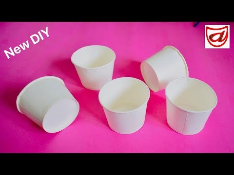 Best DIY craft from waste Paper Cups | Disposable Cup craft | Valentines Day Room decor Idea