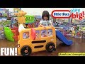 Marxlen's Yellow Magic School Bus and Workbench Tools Playset Playtime! Kids' Toy Channel