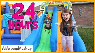 24 Hours In Giant Bounce House Slide / AllAroundAudrey