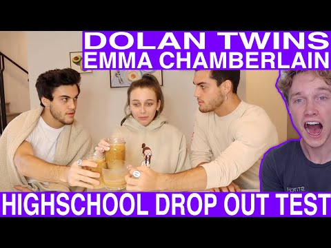 Highschool Dropouts Take Finals Ft Dolan Twins Reaction Tyler Wibstad