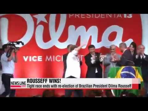Dilma Rousseff re-elected to lead Brazil in close race   브라질 호세프 대통령 ′재선′ 성공
